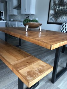 Modern Table with Metal Legs