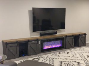 Farmhouse Entertainment Center with Built in Fireplace