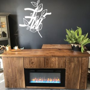 Fireplace Buffet with Storage